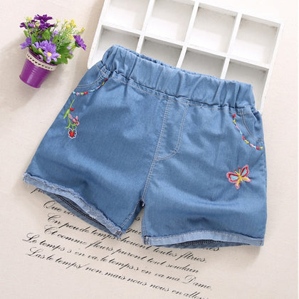 Fashion Girls Denim Pants Shorts Girl Thin Soft Trousers