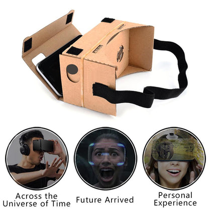 Ultra Clear Virtual Reality VR Glasses 3D VR Cardboard Box Magic Glasses Style For iPhone Samsung Mobile Phone