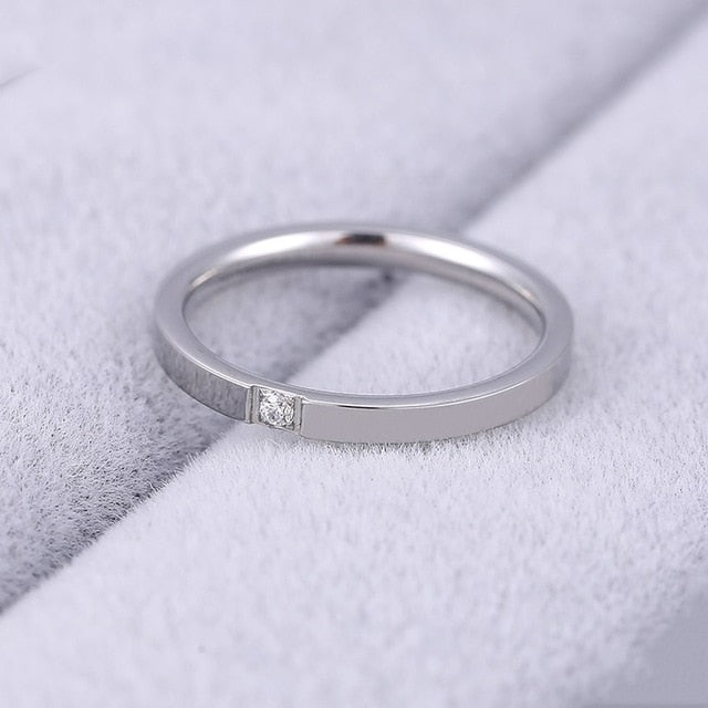 4mm  Rose Gold Ring Men's and Women's Exclusive Couple Wedding Ring