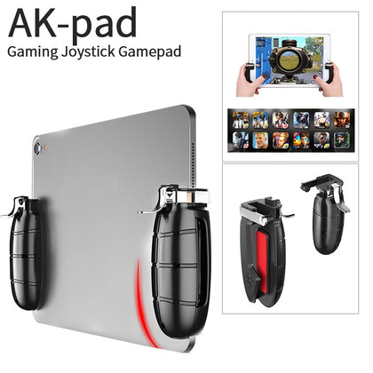 New Arrival AKPAD 1 Pair Gaming Trigger for PUBG /CS/Knives Out Game Console for ipad Gamepad Anti-slip Handle for Android iOS