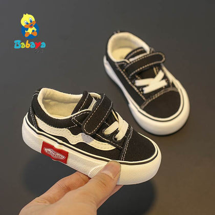 Baby Shoes Soft Bottom Boy 1-3 Years Old 2019 autumn Winter Children Canvas Shoes