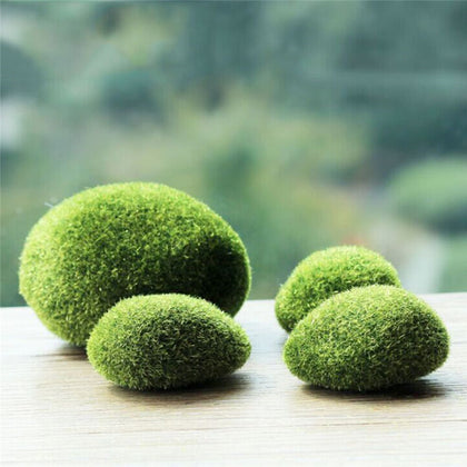 1 pack Green Artificial Moss Stones Grass Plant bonsai flocking false lawn micro landscape decoration accessories