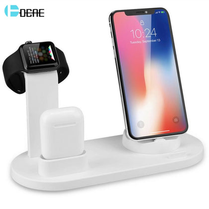 3 in 1 Charging Stand for iWatch Apple Watch Series 5 4 3 2 AirPods Type-C USB Wireless Charger For iPhone 11 XS Max X XR X 8 7