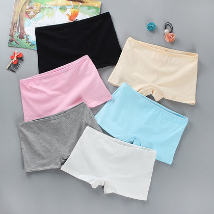 High Quality Girl Safety Shorts Pants Solid Underwear Soft Elastic Cotton Shorts