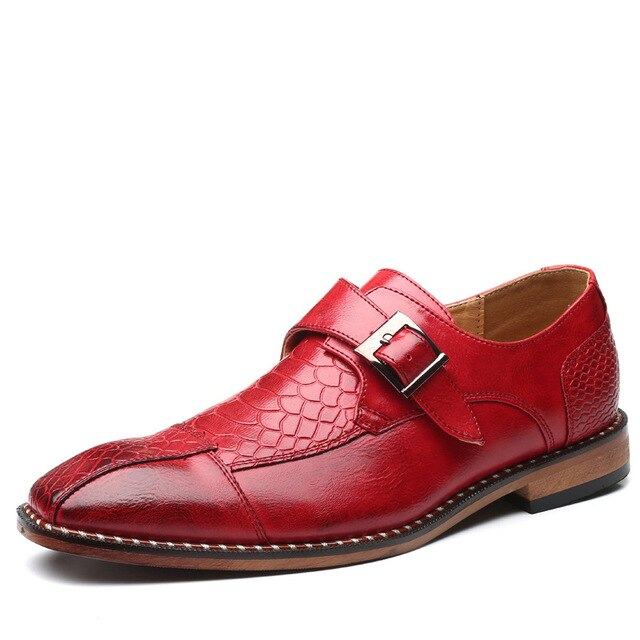 Men Oxford Patent Leather Shoes
