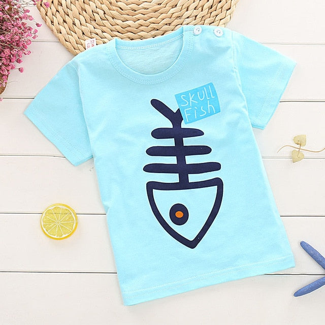 Children's short-sleeve T-shirt for Boy/Girls 2-9 years Tees