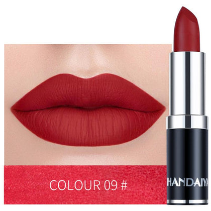 HANDAIYAN Sexy Matte Lipstick Makeup Silver 12 Color Nude Long Lasting Pigment Waterproof Nutritious Velvet Lips Stick TSLM1