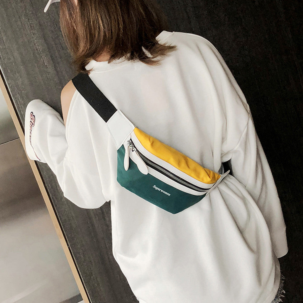 2019 New Design Teenage Girls Shoulder Bag Hip Hop Waist Chest Pack Trendy Crossbody Bags Fashion Korean Women Chest Handbag