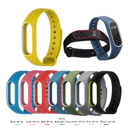 Smart watch M2 3 4 strap for Xiaomi Mi Band 2 Silicone Bracelet watchbands Wristband Replacement Sports rubber Accessories