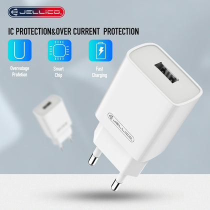 Jellico Quick Charger 3.0 USB Charger Power Wall Adapter for iPhone iPad Samsung Xiaomi Mobile Phones QC3.0 Travel Fast Charger