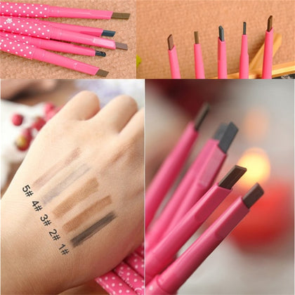 New 1pcs Longlasting Eyebrow Pencil Natural Waterproof Rotating Automatic Eye Brow Pencil Cosmetic Eyebrow Shaping Liner Pen Hot
