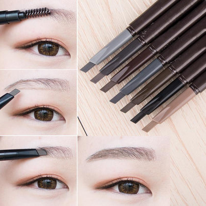 New 5 Colors Eyebrow Pencil Natural Waterproof Rotating Automatic Eyeliner Eye Brow Pencil with Brush Beauty Cosmetic Tool TSLM2