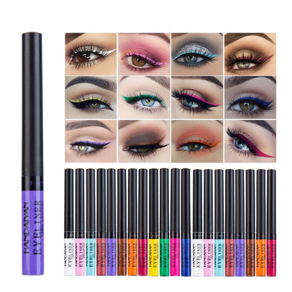 HANDAIYAN 1Pc Matte Liquid Eyeliner Quick Dry Waterproof Eye Liner Pencil Brown Purple Color Eyeliner Cosmetic Makeup Tool TSLM2
