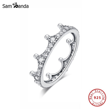 925 Sterling Silver Ring Enchanted Crown Stackable Ring