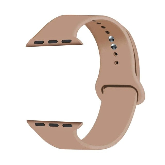 Joyozy Sport Silicone Band for Apple Watch 38mm 42mm 40mm 44mm Soft Strap Cartoon Woman Men Bracelet for iwatch Series 4 5 3 2 1