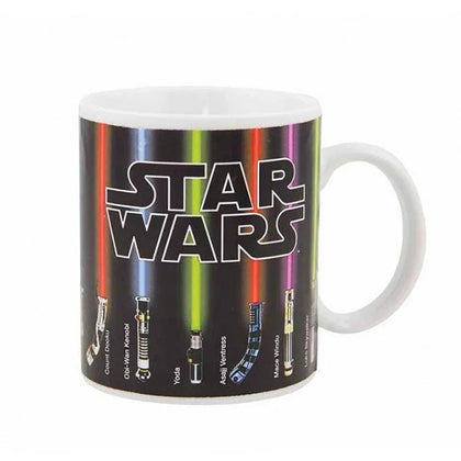 Star war color changing coffee mugs Lightsaber ceramic cups and mugs magic mark drinkware