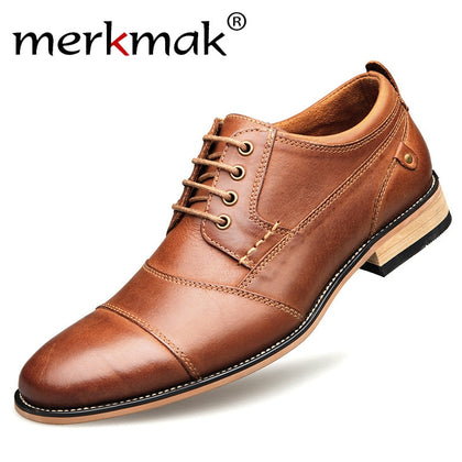 Oxfords Men Genuine Leather Dress Shoes