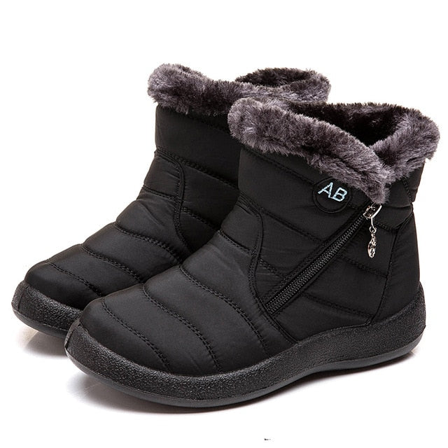 Women Boots 2019 New Waterproof Snow Boots For Winter Shoes