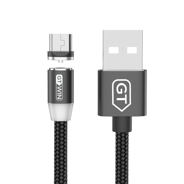 GTWIN 1m 2m 3m Magnetic Cable Micro usb Type C Fast Charging Microusb Type-C Magnetic Charge usb c For iphone 11 X Xr usb cable