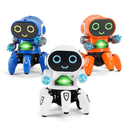 Robot Toy Intelligent Robot Mini RC Robot Toys Walking Singing Dancing Led Light Kids Educational Toys Gift