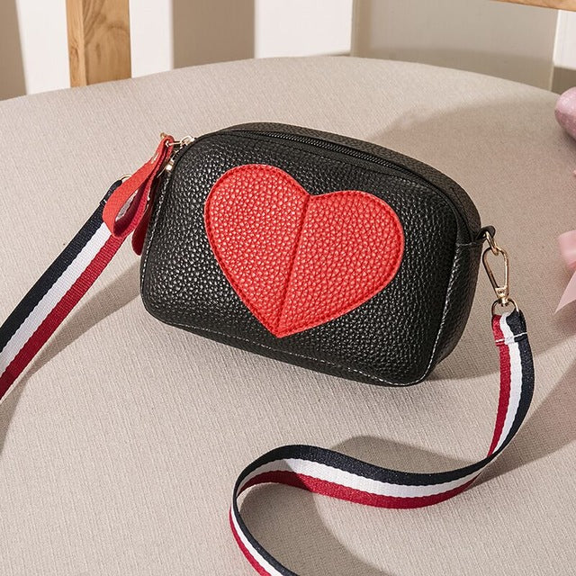 Shoulder Bag For Teenage Girl Women Small Handbag For Cell Phone Wide Strap Flap Female Crossbody Bag Purse In Soft Leather