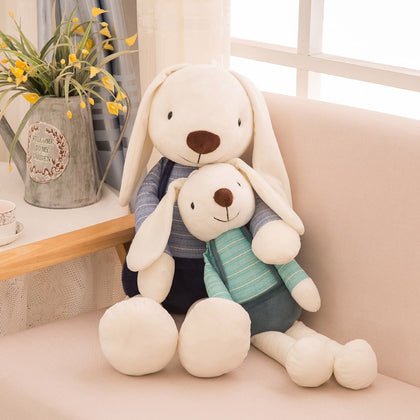 40cm Cute Bunny Plush Rabbit Toy Soft Cloth Stuffed Rabbit Easter Gift Decor Baby Appease Toys For Children Kids Newyear Gift