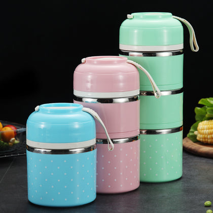 WORTHBUY AS Drop Shipping Japanese Portable Lunch Box For Kids School Stainless Steel Bento Box Leak-Proof Food Container