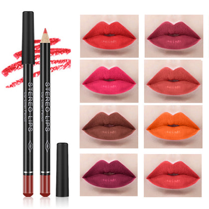 12Color Professional Lipstick Pencil Lip Liner Waterproof Makeup Lip Long Lasting Smooth Lip Liner Pencil Cosmetics Makeup Pen