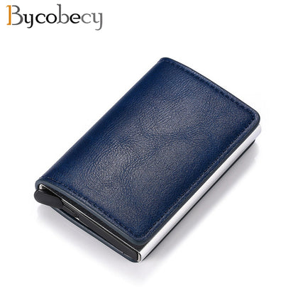 Bycobecy Antitheft Men Vintage Credit Card Holder Blocking Rfid Wallet Leather Unisex