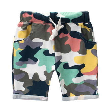 Summer Boys Camouflage Shorts Cotton Trousers Kids Beachwear