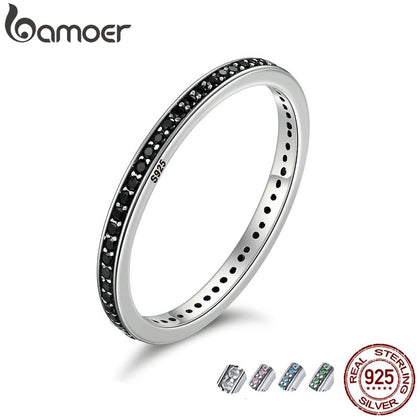 Authentic 925 Sterling Silver Dazzling CZ Stackable Ring