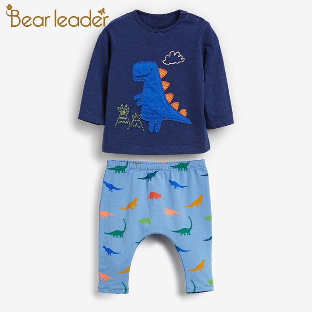 Bear Leader Boy Clothing Sets Long Sleeve Boy Kids Clothes Set