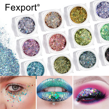 Eye Sequins Glitter Eye Shadow Powder Face Lips Eyes Makeup Beauty Cosmetics Nail Aret Shinning Spark Powder Maquillajes TSLM2