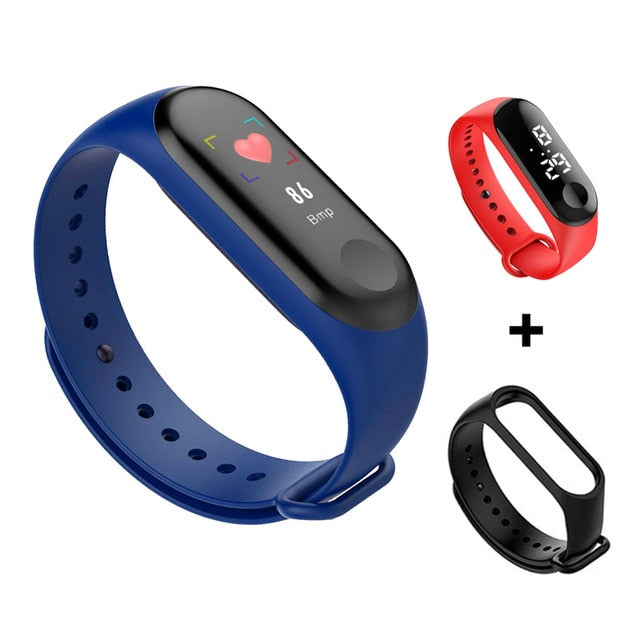 Smart Watch Bracelet Band Fitness Tracker Waterproof Sport Wristband Bracelet Color Screen Smart Band  For iPhone