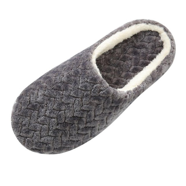 Dropship Shoes Slipper Womens Men Home Fluffy House Winter Warm Slippers
