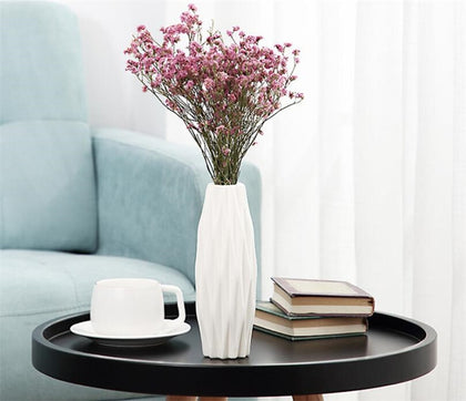 3 Colors Creative Plastic Vase White Imitation Ceramic Flower Pot Beautiful Flower Vase Home Decoration