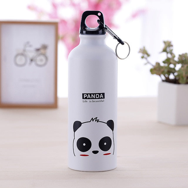 500ML Lovely Cartoon Animal Water Bottle Suitable  Portable Hydro Flask Kids Household Outdoor Sport Water Bottle
