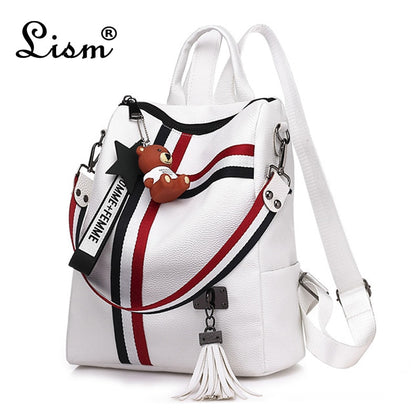 Bags for women new retro fashion zipper ladies backpack PU  Leather high quality school bag shoulder bag for youth bags