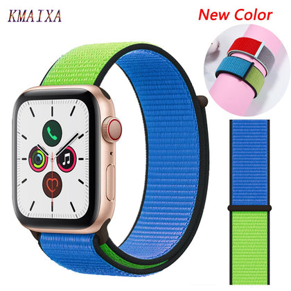 Strap for Apple Watch 5 band correa apple watch 42mm 44mm 38 mm 40mm iwatch series 5 4 3 2 nylon pulseira bracelet watchband 44