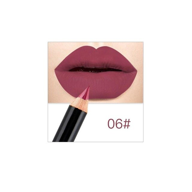 Matte Lip Liner Lipstick Pen Fashion Long Lasting Pigments Waterproof No Blooming Beauty Makeup Tool Pencil Color Optional TSLM2