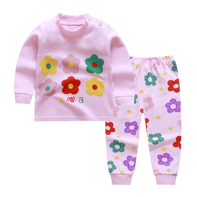 0-2year baby clothes set Winter cotton Newborn Baby boys girls Clothes 2PCS