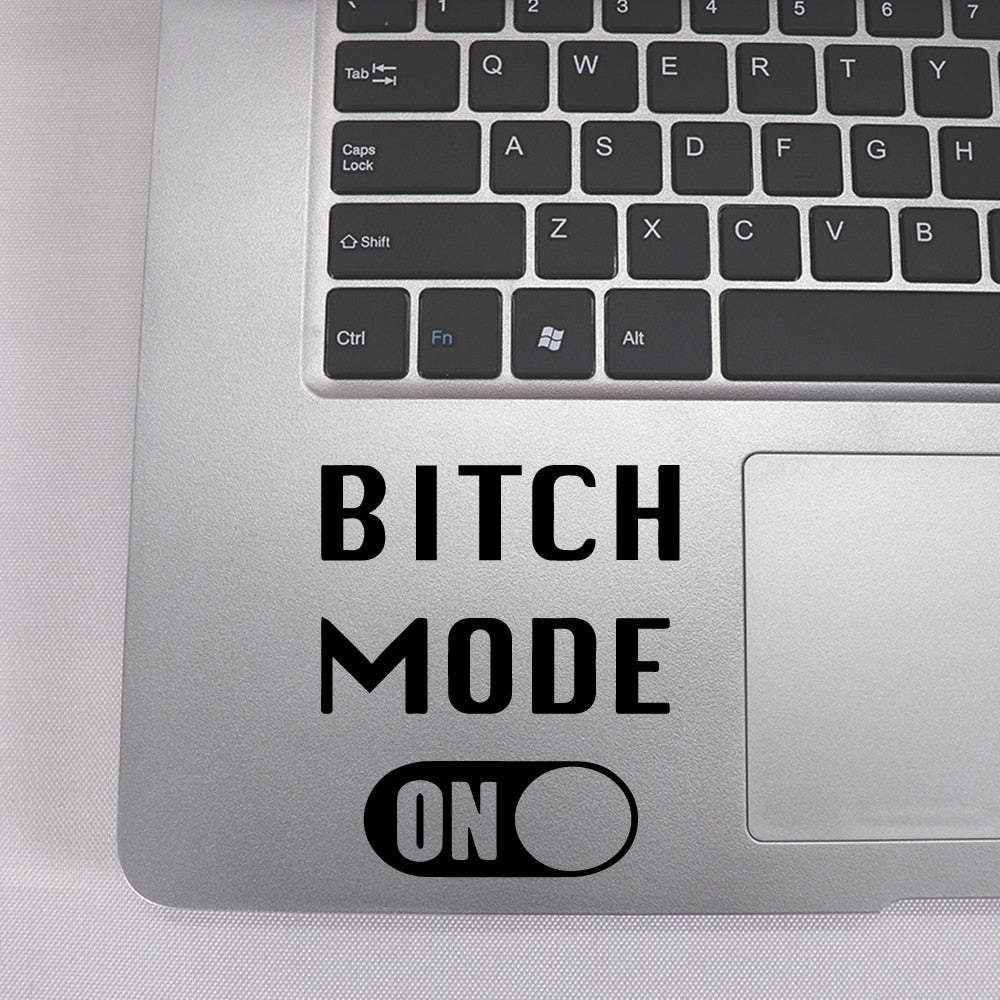 Creative Bitch Mode Laptop Sticker for Mac Book Touchpad laptop skin decoration