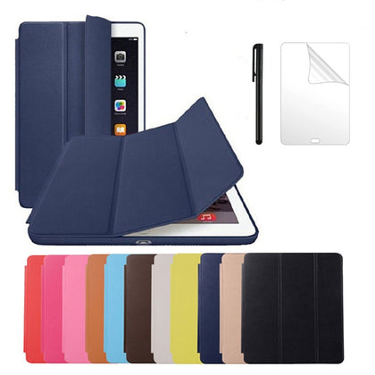PU Leather Case For iPad Air 2 A1566/1567 Magnet Auto Sleep Stand Flip Leather Cover for iPad air 2 9.7 inch tablet case+ Pen