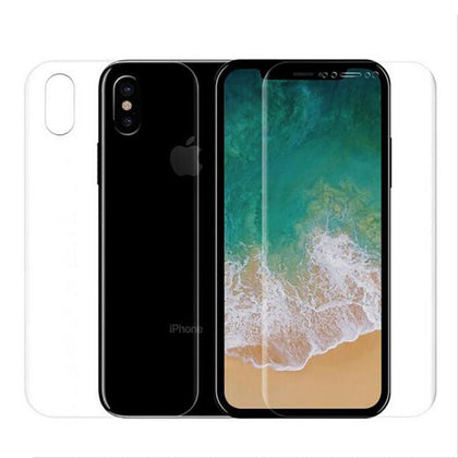 3D Curve Full Soft Clear Protective Guard Front Back Film for iphone 11 Pro X 8 7 Plus XR XS Max Screen Protector Cover(No Glass