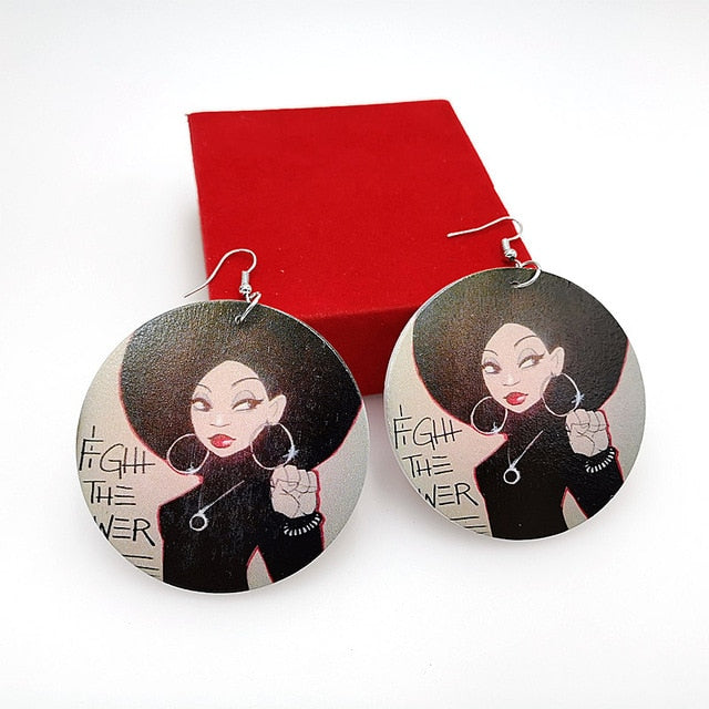YD&YDBZ 2019 New Women Drop Earrings A Pair Of Wood Earrings