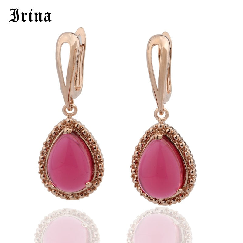 Irina 5 Color Classic  Water Drop Glass Stone Beads Crystal Pendant Dangler