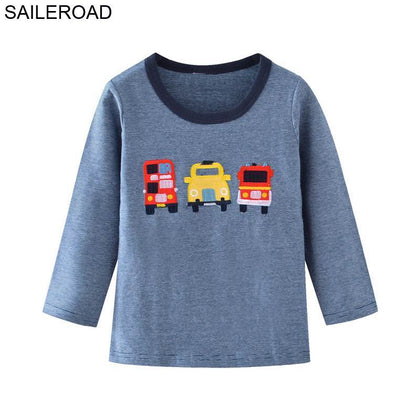 2-7 Years a Little Boy Long Sleeve TShirts Autumn Spring Babies Toddler Topwear