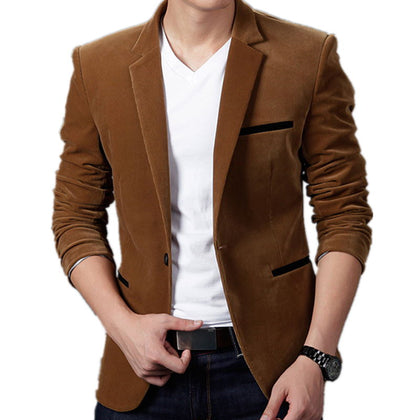 British's Style Casual Slim Fit Suit Jacket Male Blazers Men Coat Jacket For Men