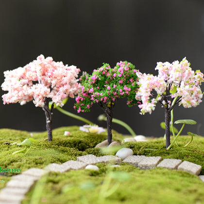 Simulation False Tree Garden Decoration Micro Landscape Bonsai Plant Romantic Flower mini trees model