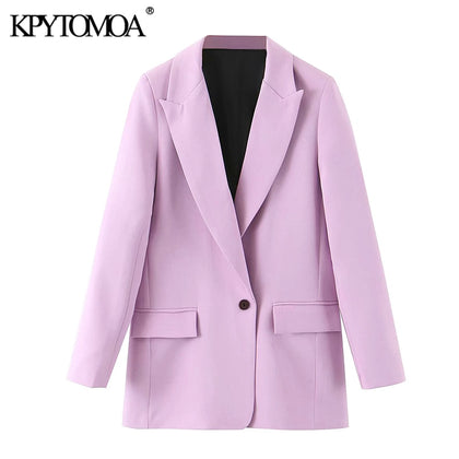 Fashion Office Wear Pockets Blazers Coat